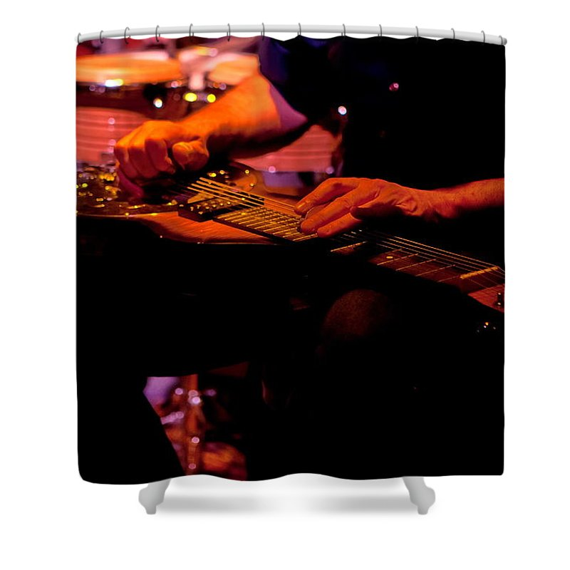 Lap Shower Curtain featuring the photograph Lap Steel by Leeon Photo
