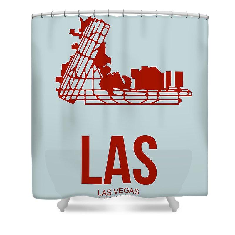 Las Vegas Shower Curtain featuring the digital art Las Las Vegas Airport Poster 3 by Naxart Studio