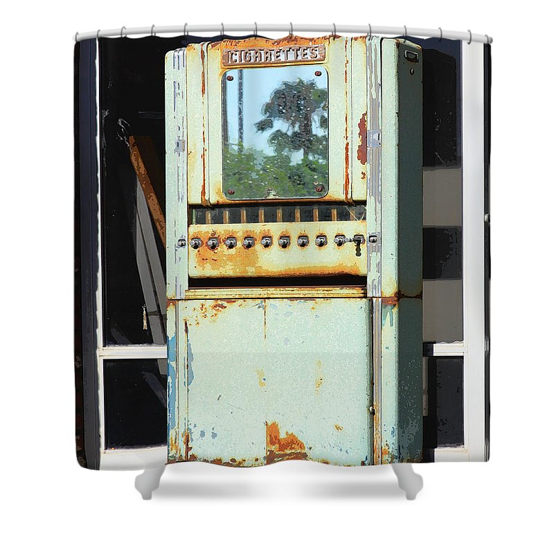 Cigarettes Shower Curtain featuring the photograph Last Cigarette Palm Springs by William Dey