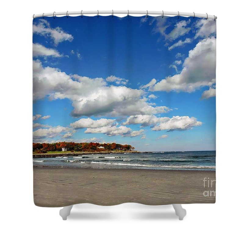 Marcia Lee Jones Shower Curtain featuring the photograph Last Days Of Warmth by Marcia Lee Jones