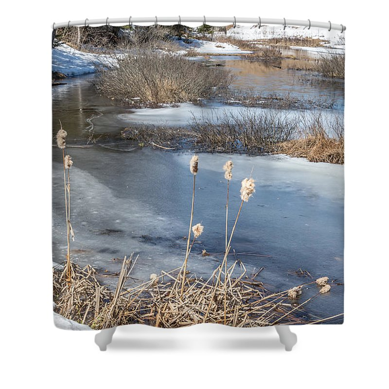 Winter Shower Curtain featuring the photograph Last Days Of Winter by Jola Martysz