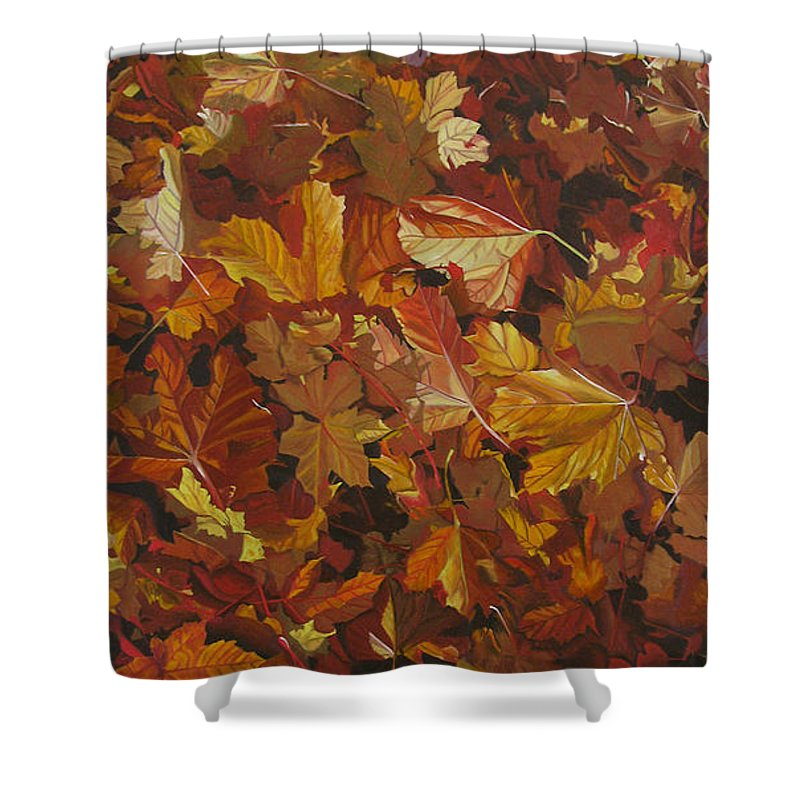Fall Shower Curtain featuring the painting Last Fall In Monroe by Thu Nguyen