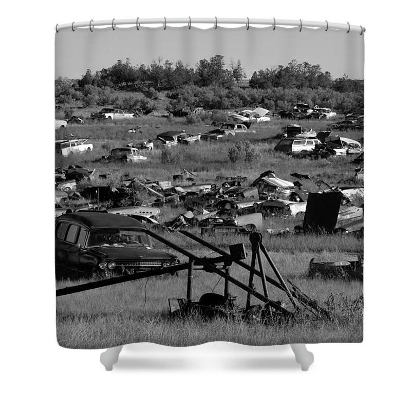 Fine Art Photography Shower Curtain featuring the photograph Last Ride by David Lee Thompson