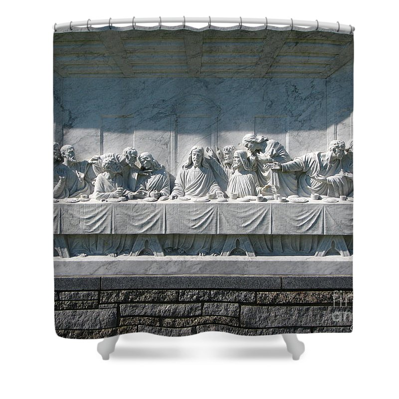 Art For The Wall...patzer Photography Shower Curtain featuring the photograph Last Supper by Greg Patzer