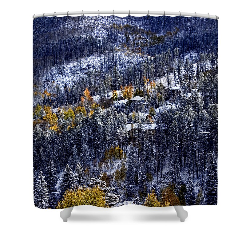 Vail Shower Curtain featuring the photograph Late Fall In Vail by Ellen Heaverlo