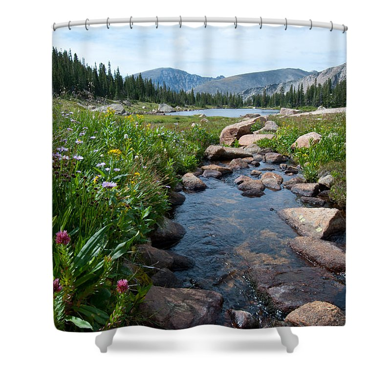 Summer Shower Curtain featuring the photograph Late Summer Mountain Landscape by Cascade Colors