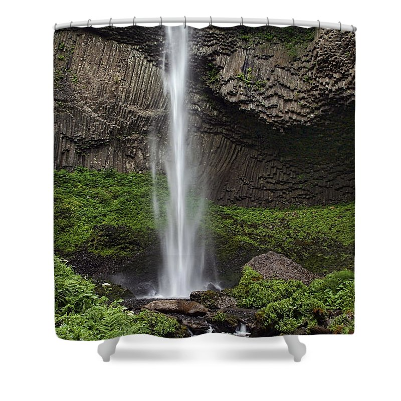 Latourelle Falls Shower Curtain featuring the photograph Latourelle Falls by Wes and Dotty Weber