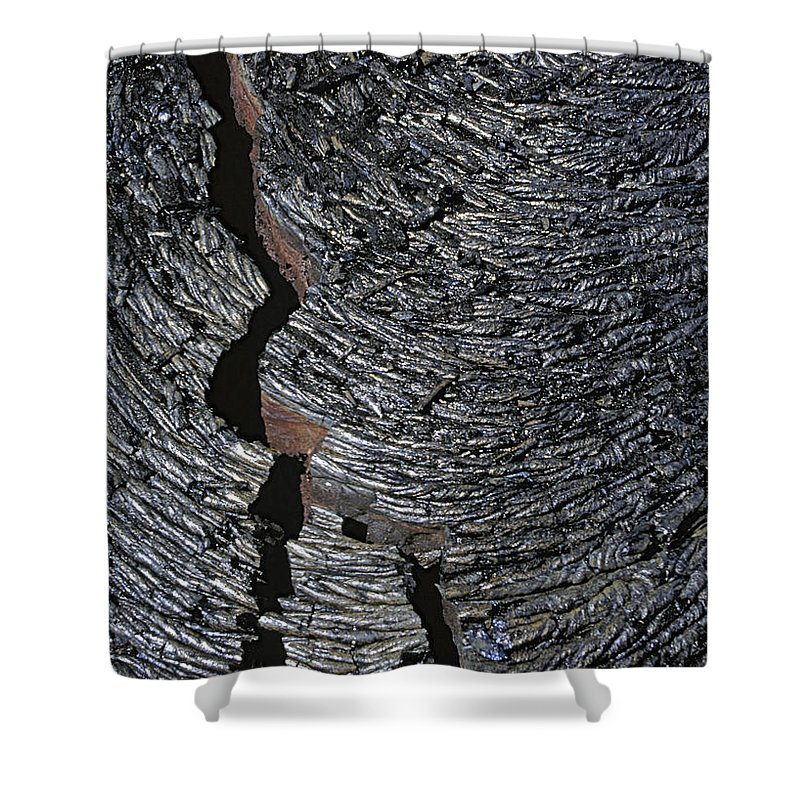 Usa Shower Curtain featuring the photograph lava field Hawaii by Rudi Prott