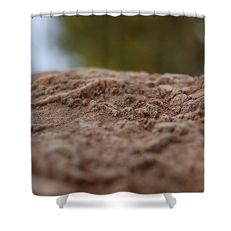 Linda Brody Shower Curtain featuring the photograph Lava Rock Landscape I by Linda Brody