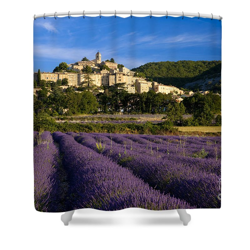Lavender Shower Curtain featuring the photograph Lavender And Banon by Brian Jannsen
