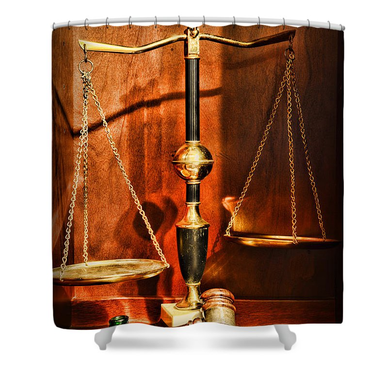 Scales Of Justice Law Shower Curtains