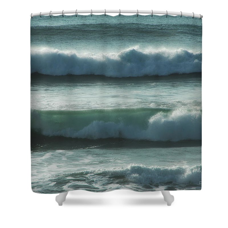 Ocean Shower Curtain featuring the photograph Layers by Donna Blackhall