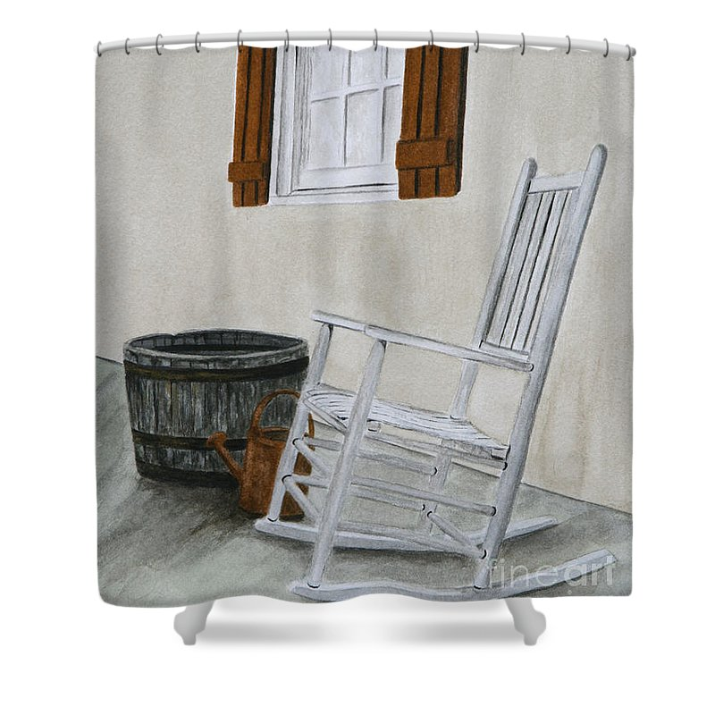 Americana Shower Curtain featuring the painting Lazy Day by Regan J Smith