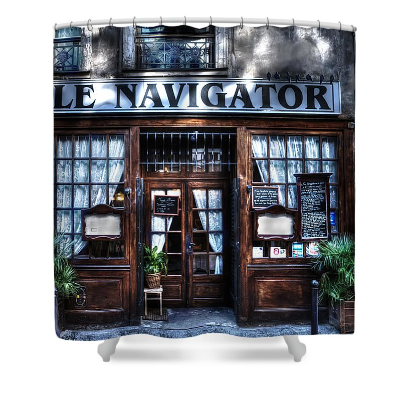 Evie Shower Curtain featuring the photograph Le Navigator Paris France by Evie Carrier