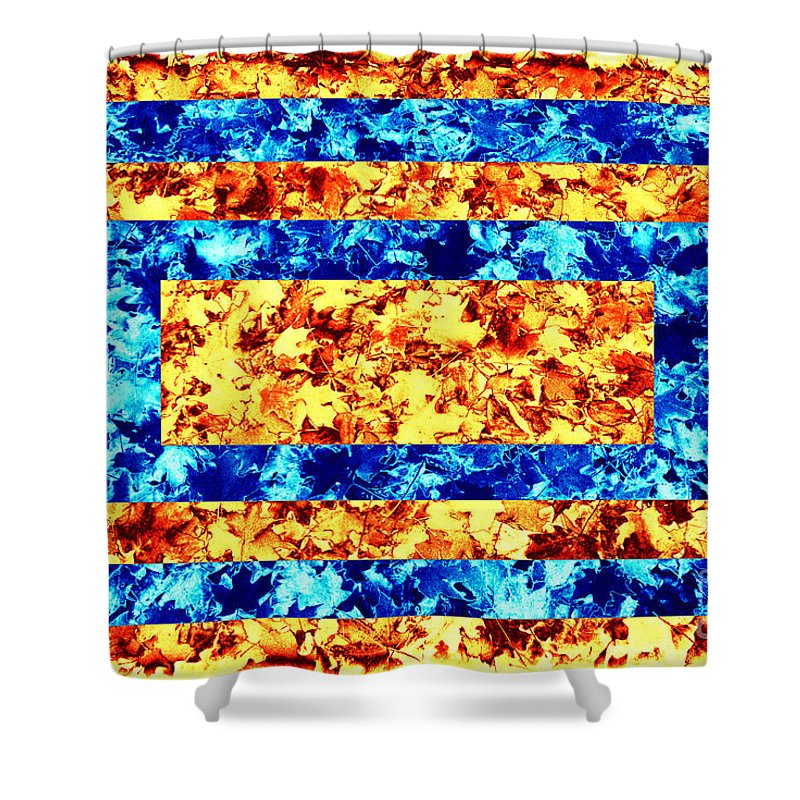 Leaves Shower Curtain featuring the photograph Leaf - Opposites by Paul W Faust - Impressions of Light