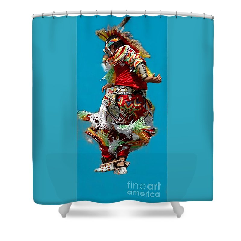 Native Shower Curtain featuring the photograph Leaping Into The Air by Kathleen Struckle