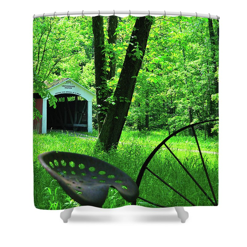 Covered Bridge Shower Curtain featuring the photograph Leatherwood by David Arment