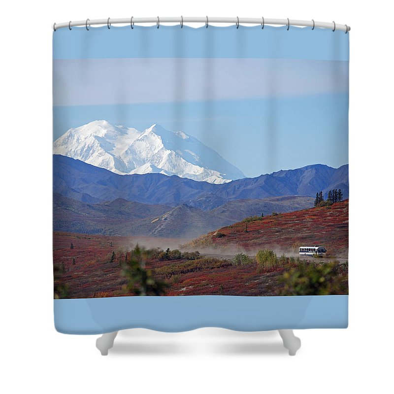 Denali Shower Curtain featuring the photograph Leaving Denali by Jim Cook