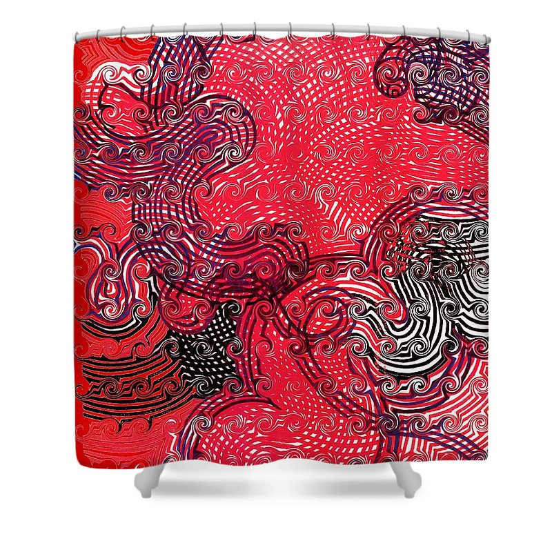 Shower Curtain featuring the drawing leaving u how do I ever by George Eley