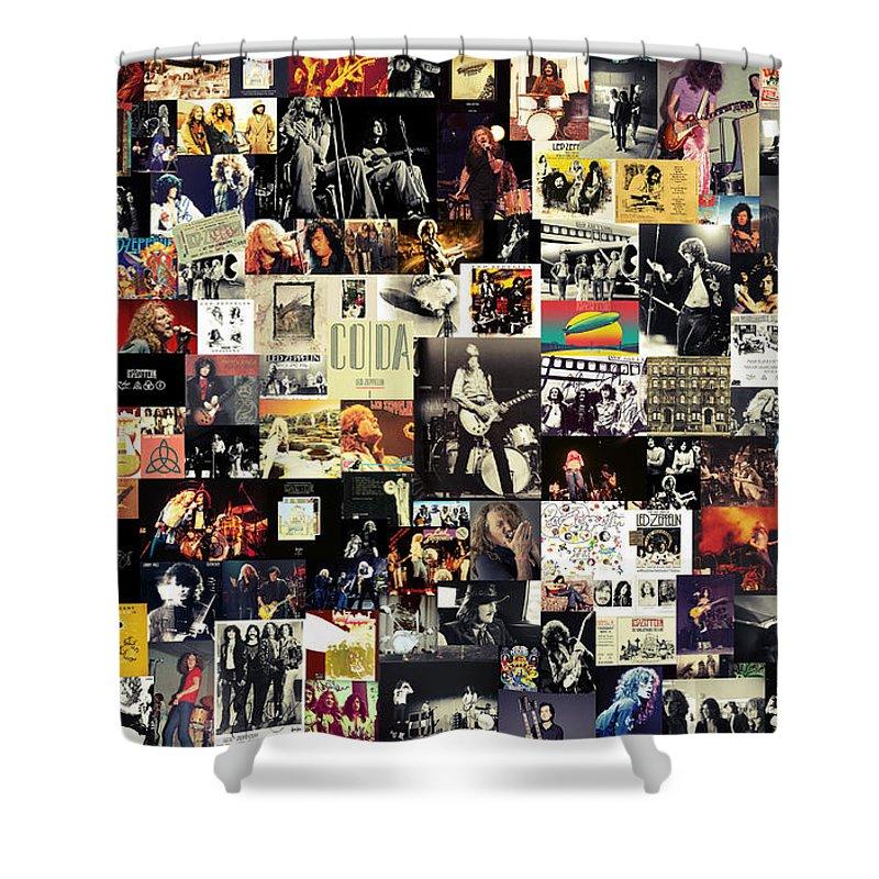 Led Zeppelin Collage Shower Curtain For Sale By Zapista Zapista