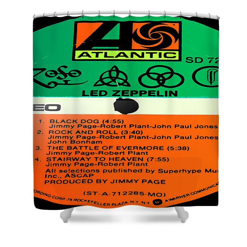 Led Zeppelin Shower Curtain Featuring The Photograph Iv Side 1 By Marcello Cicchini