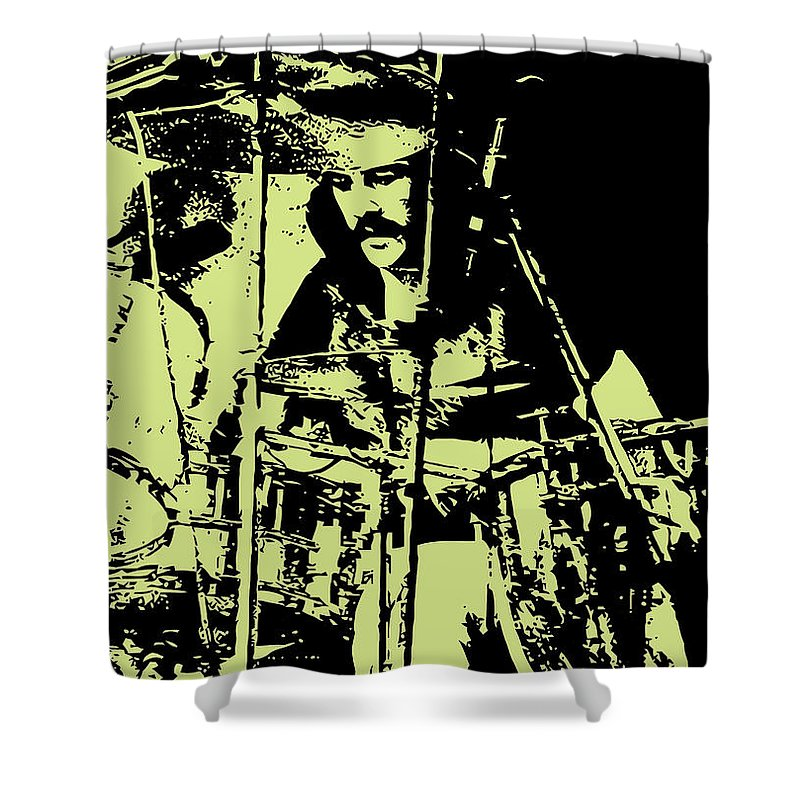 Led Zeppelin Shower Curtain Featuring The Digital Art No05 By Geek N