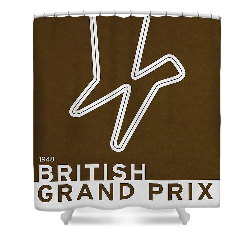 F1 Shower Curtain featuring the digital art Legendary Races - 1948 British Grand Prix by Chungkong Art