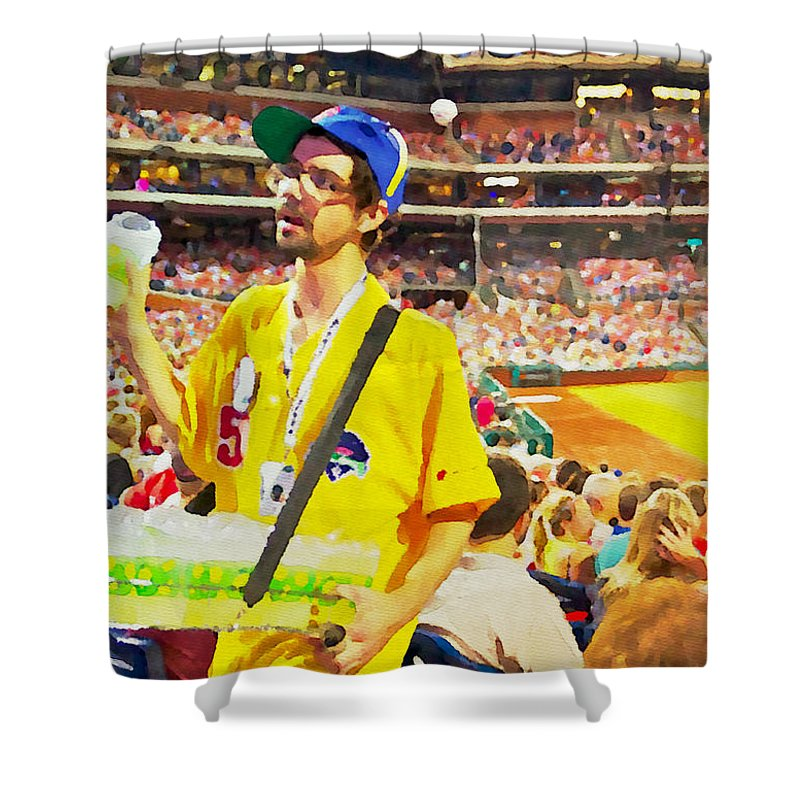 Phillies Shower Curtain featuring the photograph Lemonade For Sale by Alice Gipson