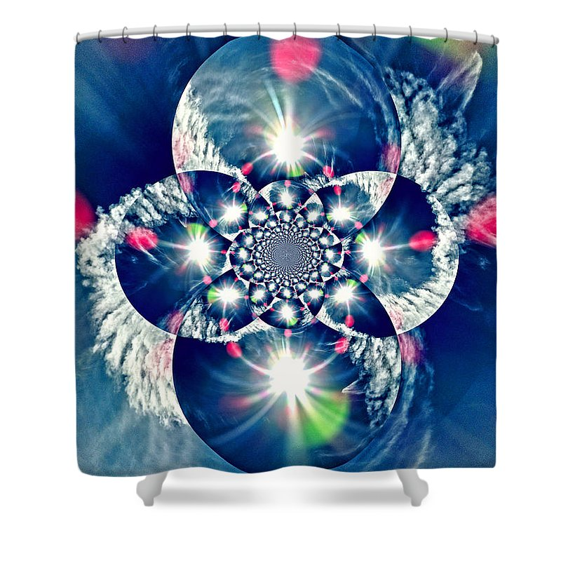 Digital Art Shower Curtain featuring the photograph Lens Flare by Marilyn Holkham