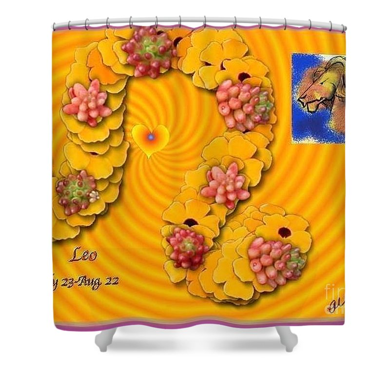 Leo Shower Curtain featuring the digital art Leo With William Baumol by The Art of Alice Terrill