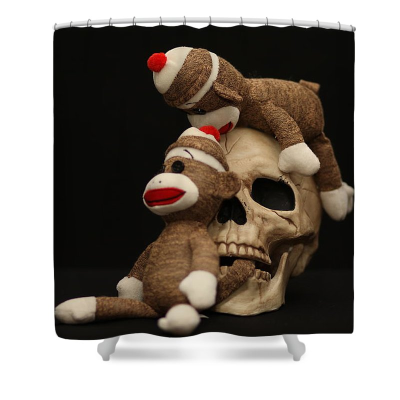 Skull Shower Curtain featuring the photograph Let Him Go by Chuck Johnson