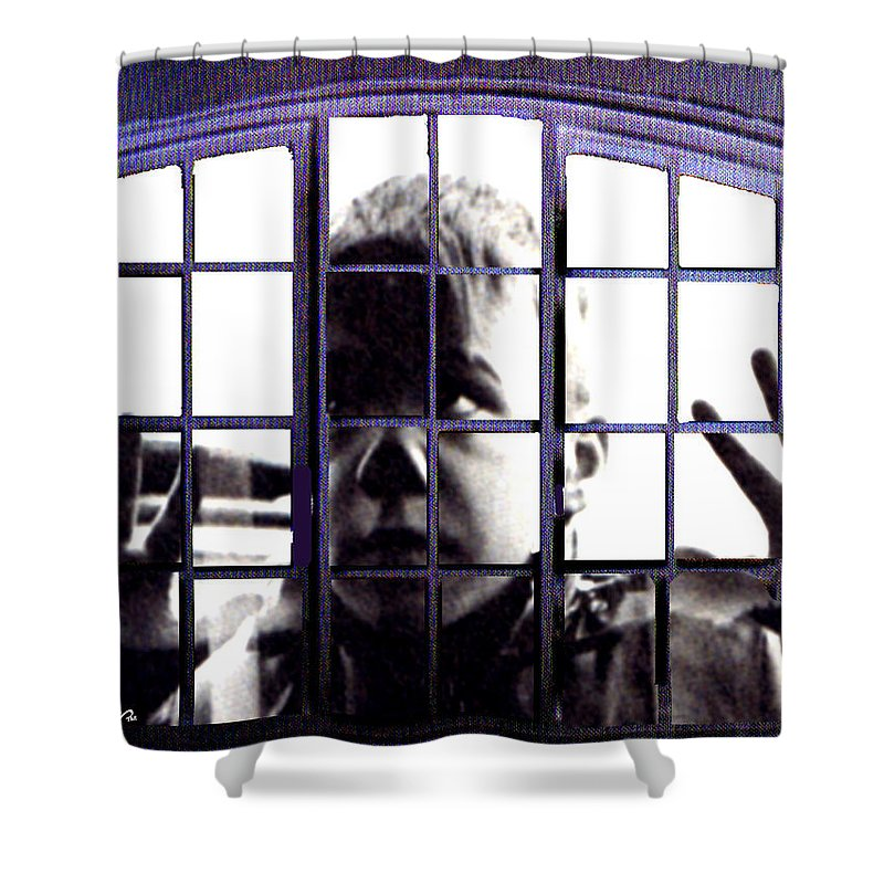 Let Me In Shower Curtain featuring the digital art Let Me In by Seth Weaver