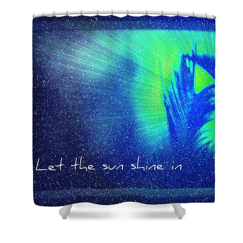 Abstract Shower Curtain featuring the photograph Let The Sun Shine In by Carolyn Marshall