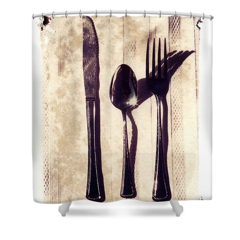 Forks Shower Curtain featuring the photograph Lets Eat by Jane Linders