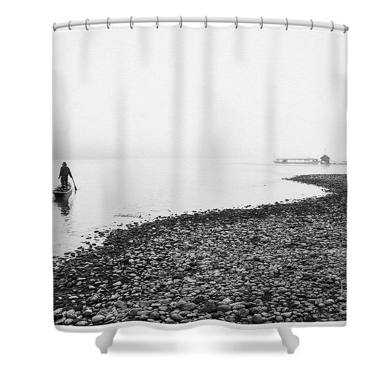 Mekong River Shower Curtain featuring the photograph Life At Mekong River by Setsiri Silapasuwanchai