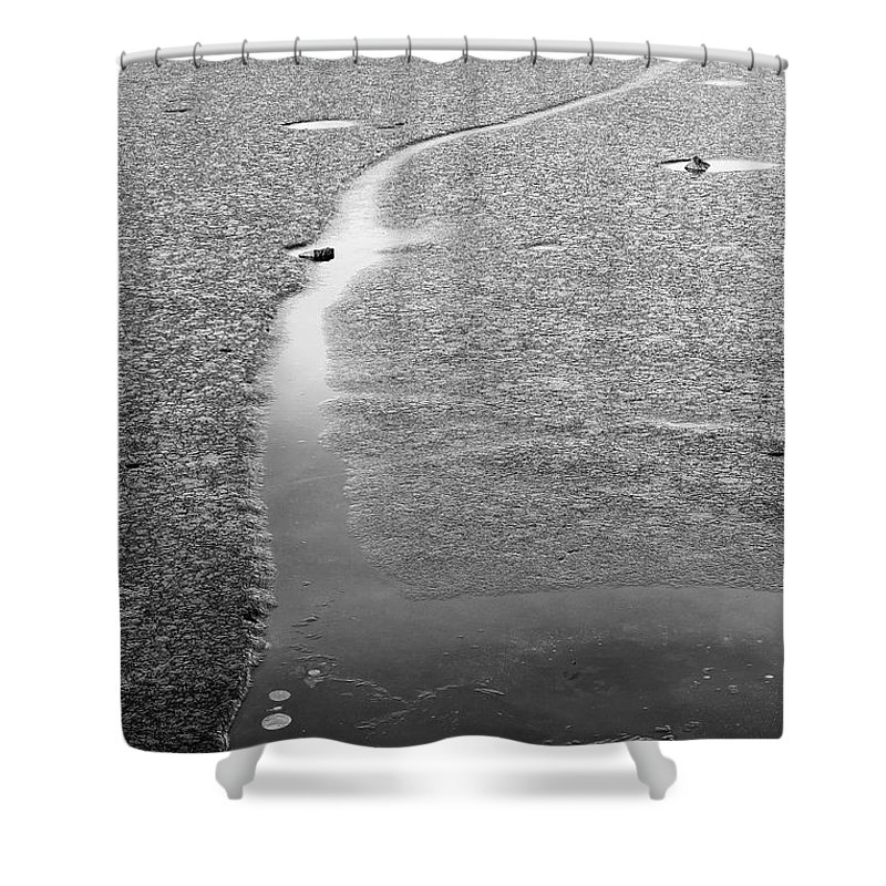Ice Shower Curtain featuring the photograph Life Is by Deb Buchanan