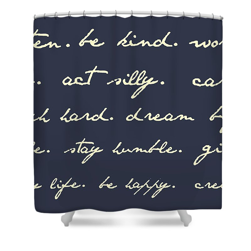 Life Matters Shower Curtain featuring the digital art Life Matters by Chastity Hoff