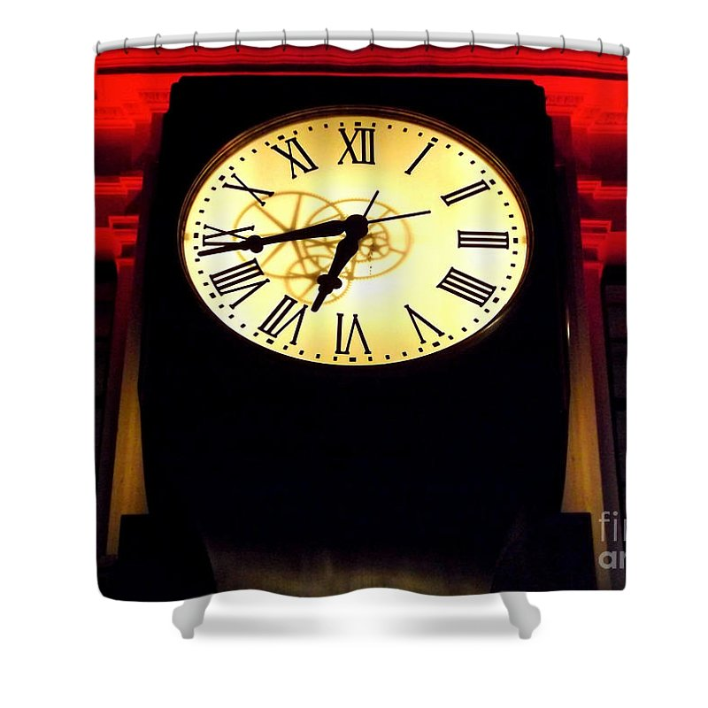 Clock Shower Curtain featuring the photograph Life's Accountant by James Aiken