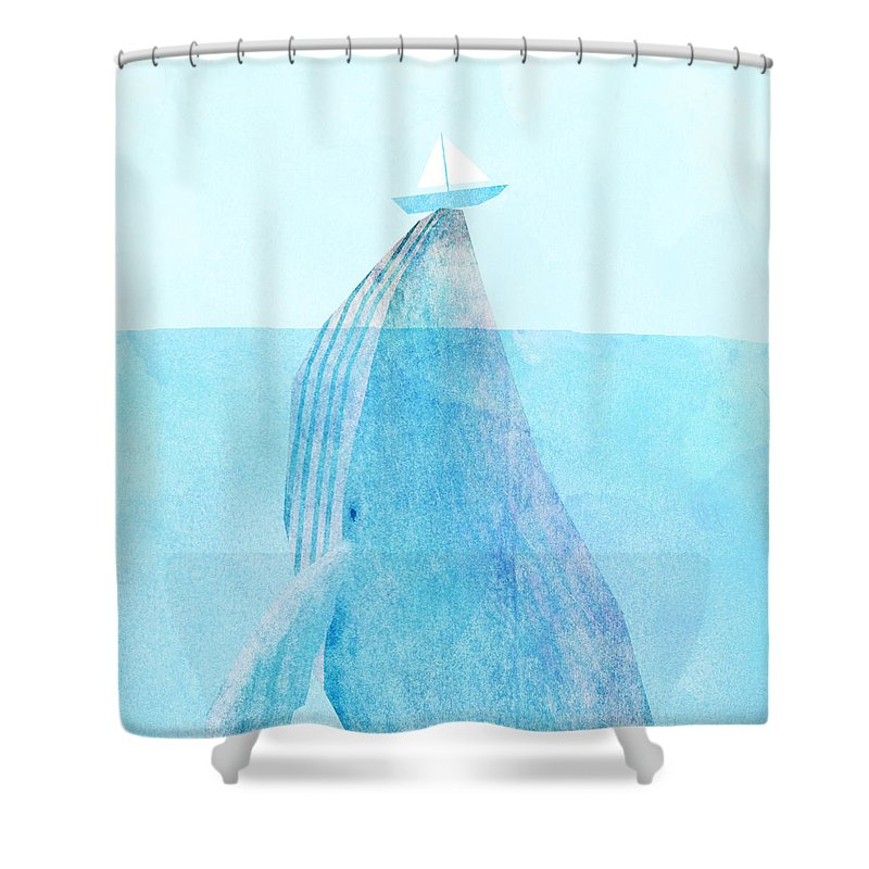 Whale Shower Curtains