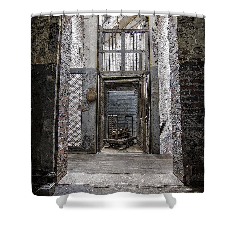 Urbex Shower Curtain featuring the photograph Lifted by Rob Dietrich