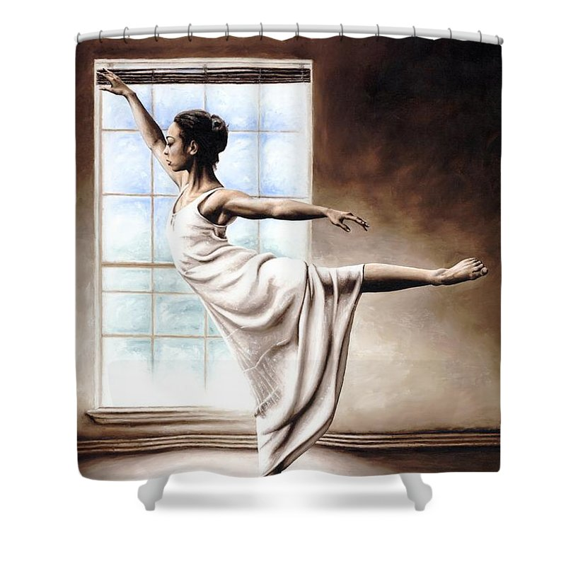 Dance Shower Curtain featuring the painting Light Elegance by Richard Young