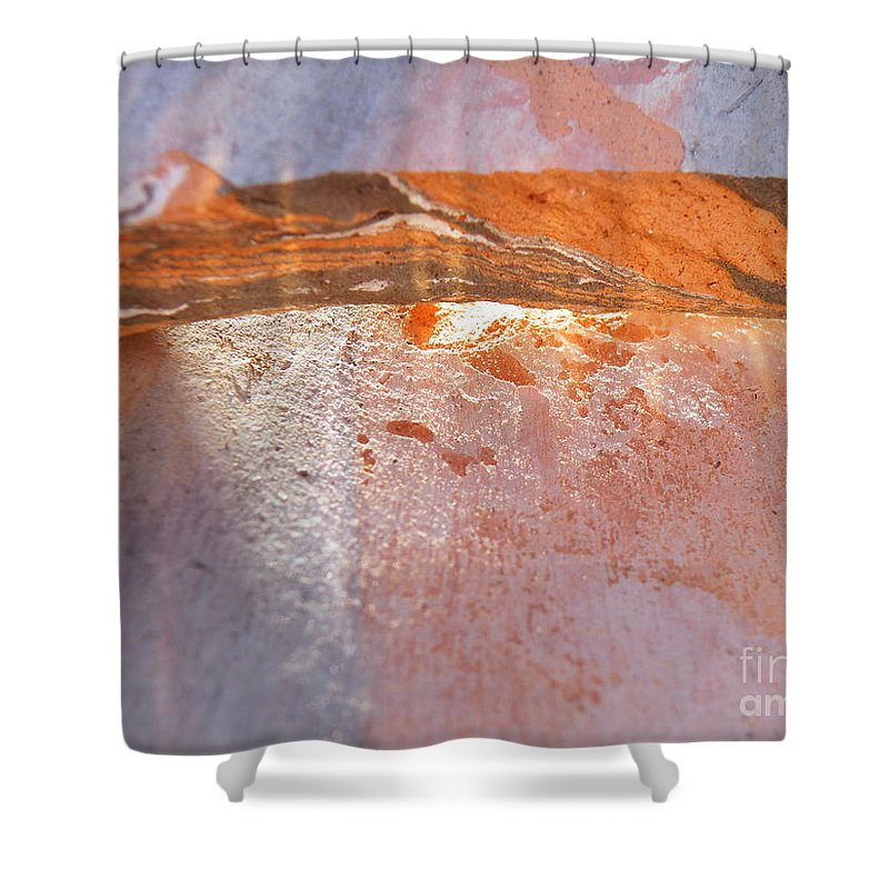 Abstract Shower Curtain featuring the photograph Light From Within by Brian Boyle