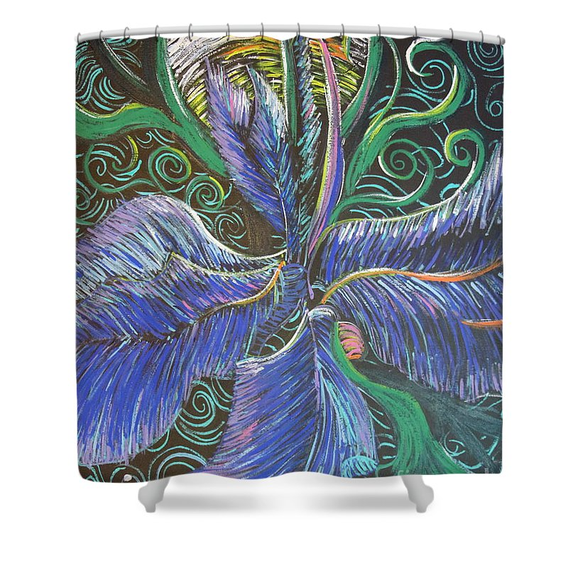 Impressionism Shower Curtain featuring the painting Light Into The Bloom by Stefan Duncan