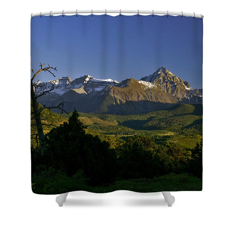 San Juan Mountains Shower Curtain featuring the photograph Light Will Change by Jeremy Rhoades
