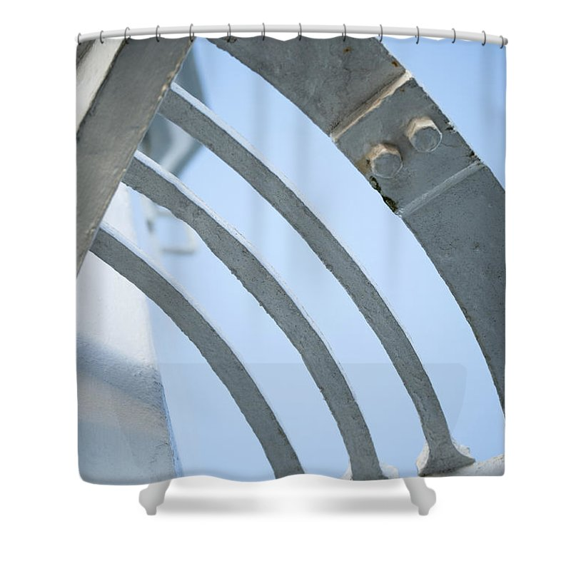 Abstract Shower Curtain featuring the photograph Lighthouse Abstract by Anne Gilbert
