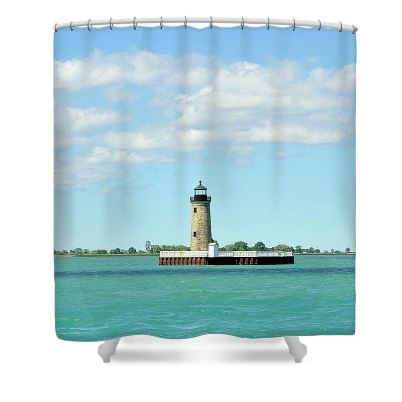 Scenics Shower Curtain featuring the photograph Lighthouse Lake St. Clair by Rivernorthphotography