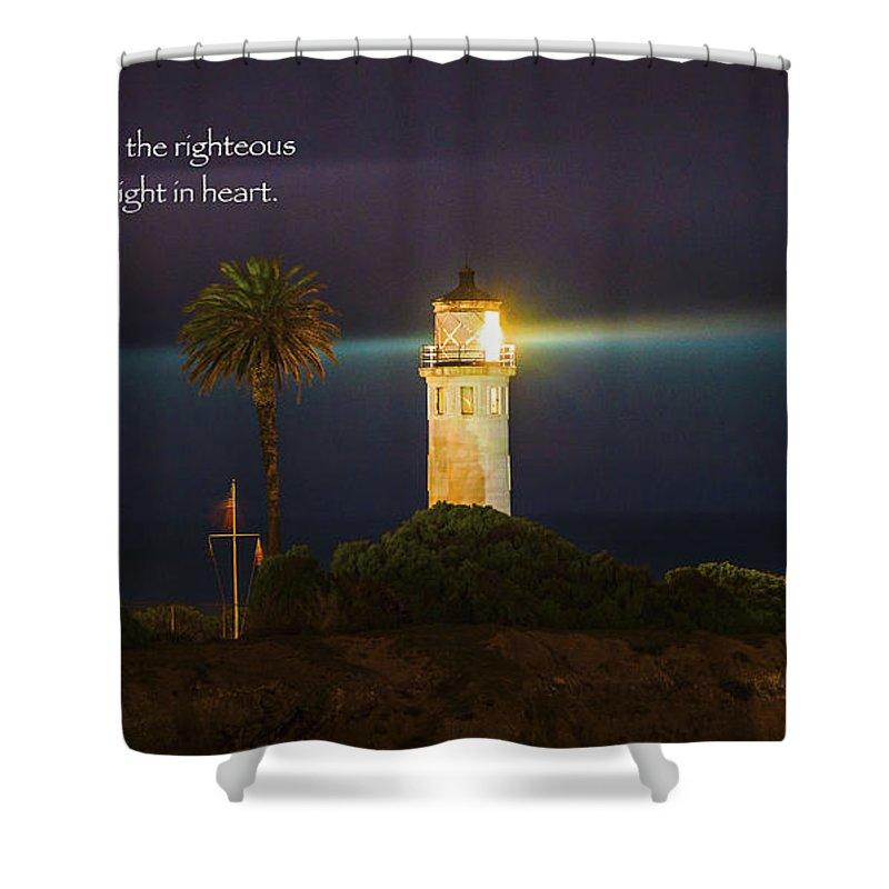Lighthouse Shower Curtain Featuring The Photograph Lighthouse Scripture Art  Inspirational Art Bible Verse Art Christian Art