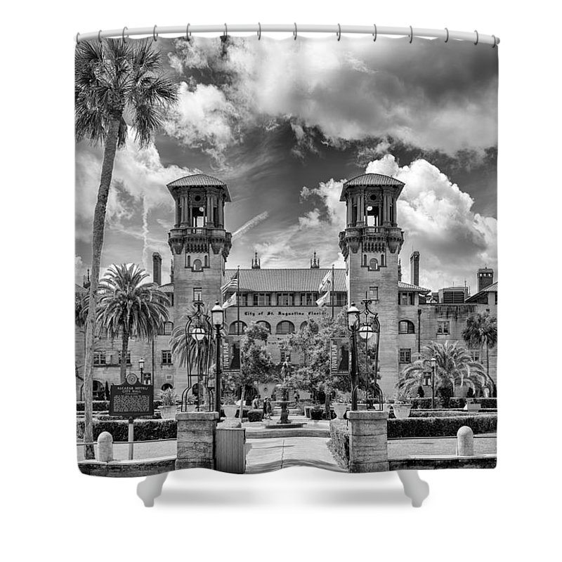 St. Augustine Shower Curtain featuring the photograph Lightner Museum  by Howard Salmon