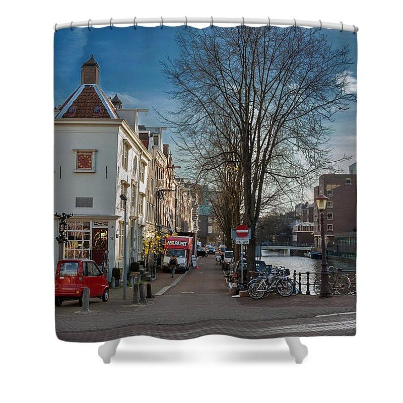Holland Shower Curtain featuring the photograph Lijnbaansgracht And Tweede Weteringdwarsstraat. Amsterdam by Juan Carlos Ferro Duque