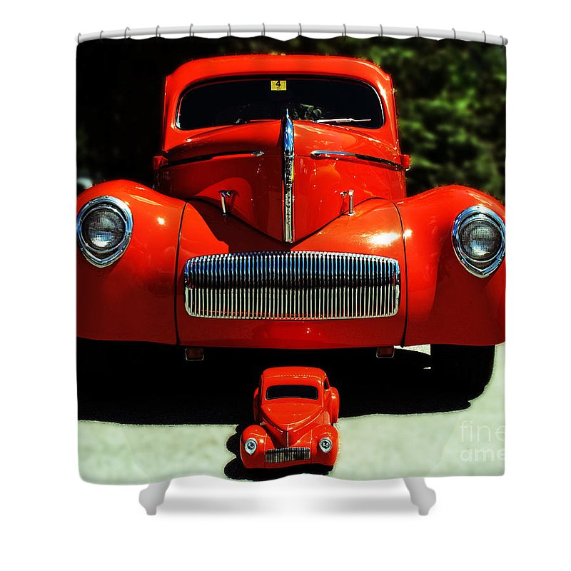 Car Shower Curtain featuring the photograph Like Father Like Son by Kevin Fortier